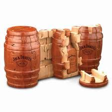 Jack Daniels Wooden Whiskey Barrel Puzzle - HomeBello