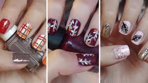 fall nail art three easy designs