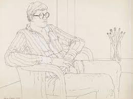 ADRIAN GEORGE (b. 1944), David Hockney   Christie's