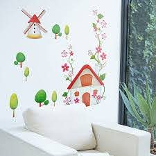 Amazon Com Windmill Wall Decals Stickers Appliques Home Decor Home Kitchen