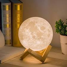 Amazon Com Mydethun Moon Lamp Moon Light Night Light For Kids Gift For Women Usb Charging And Touch Control Brightness Warm And Cool White Lunar Lamp 5 9 In Moon Lamp With Stand Home