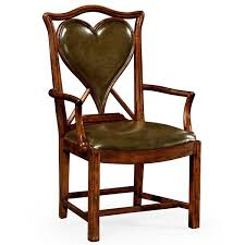 leather upholstered queen anne