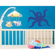 Little Octopus With Sea Stars Wall Decal Wall Sticker Vinyl Wall Art Home Decor Wall Mural 1959 24in X 20in Turquoise Walmart Com Walmart Com