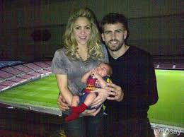shakira posts first family photo with baby