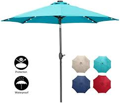 10ft solar powered led patio umbrella