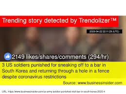 3 Us Soldiers Punished For Sneaking Off To A Bar In South Korea And Returning Through A Hole In A Fence Despite Coronavirus Restrictions