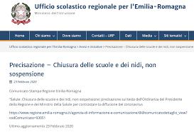 Ufficio scolastico regionale per l'Emilia-Romagna: Precisazione ...