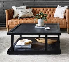 modern black oak coffee table pottery