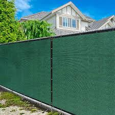 Amazon Com Amgo 6 X 50 Green Fence Privacy Screen Windscreen With Bindings Grommets Heavy Duty For Commercial And Residential 90 Blockage Cable Zip Ties Included Available For Custom Sizes