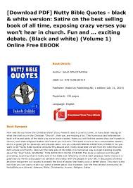 nutty bible quotes black white version satire on the best selling