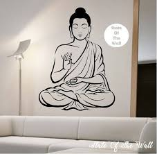 Buddha Wall Decal Vinyl Sticker Art Decor Bedroom Design Mural Etsy