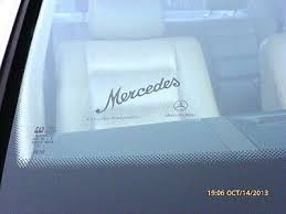 Clear Windshield Decal Sticker Mercedes Script In Black Ebay