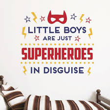 Superhero Wall Decal Boy Wall Decal Db448 Designedbeginnings