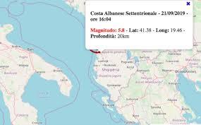 Terremoto in Puglia oggi, 21 settembre 2019: scossa M 5.8 ...