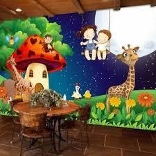 Wallpaper Kids Mural Background 3d Animal Forest Design Backdrop Children S Room Ebay
