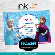 Frozen Invitation Birthday Invitation Instant Download Edit