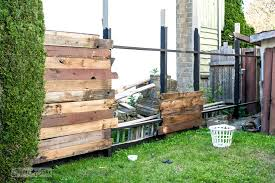 How I Built A Rustic Reclaimed Wood Garden Fence