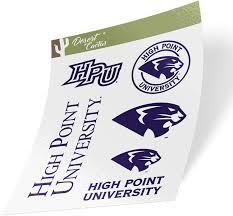 Amazon Com High Point University Hpu Panthers Ncaa Sticker Vinyl Decal Laptop Water Bottle Car Scrapbook Type 2 Sheet Arts Crafts Sewing