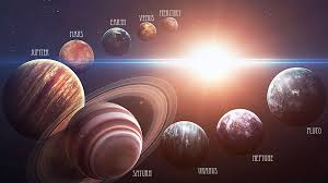 sun and planets in our solar system