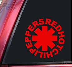 Amazon Com Shadowmajik Red Hot Chili Peppers Vinyl Decal Sticker 6 Inch Red Automotive