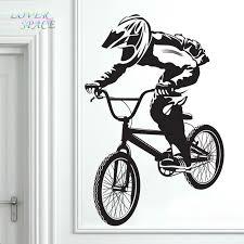 Free Shipping Bmx Bike Bicycle Biker Boys Wall Decal Vinyl Home Decor Wall Sticker Vinyl Wall Decorative Stickers Mural Poster Posters Free Shipping Boys Wall Decalswall Sticker Aliexpress