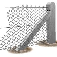Chainlink Gatepost Chainlink Strained Wire Fencing Supreme Concrete