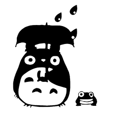 Totoro Decal Studio Ghibli Laputa Jdm Sticker Decal Notebook Car Laptop 7 Black Wish