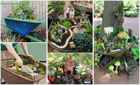 diy miniature wheelbarrow fairy garden