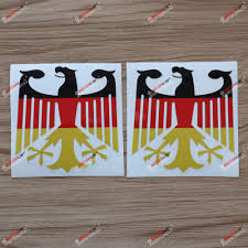 Amazon Com 2x Glossy 4 German Flag Tricolor Eagle Decal Sticker Coat Of Arms Car Vinyl Deutschland Germany Kitchen Dining