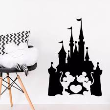Disney Castle Mickey Mouse Minnie Kiss Heart Love Fairy Quote Wall Sticker Kids Room Bedroom Accessories Vinyl Home Decor Wall Stickers Aliexpress