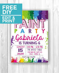 Paint Party Invitations Invitaciones De Cumpleanos Decoracion