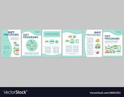 brochure template layout vector image
