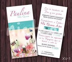Invitaciones Xv Anos Modernas Vintage Mariposa 22 00 En
