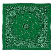 kelly green paisley bandana hobby