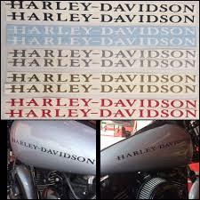 Harley Davidson Gas Tank Decals Set Of Two Free Shipping Baum Customs