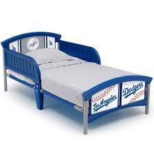 Mlb Los Angeles Dodgers Plastic Toddler Bed By Delta Children Walmart Com Walmart Com