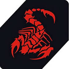 Amazon Com Panda Superstore Scorpion Car Decals Car Sticker Cool Stickers Car Window Sticker Red 5 9 Automotive
