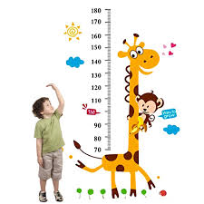 Amazon Com Height Growth Chart Wall Sticker Outivity Peel And Stick Removable Wall Stickers For Kids Nursery Bedroom Living Room Baby
