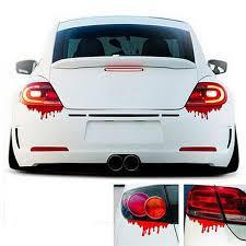 2018 New Red Blood Halloween Car Stickers 1pc Car Stickers Reflective Decals Light Bumper Body Sticker Decal For Cars 30 Car Stickers Aliexpress