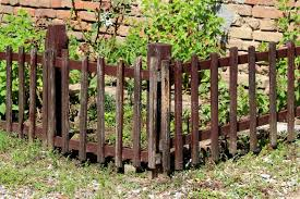 586 Wooden Fence Front Brick Wall Photos Free Royalty Free Stock Photos From Dreamstime