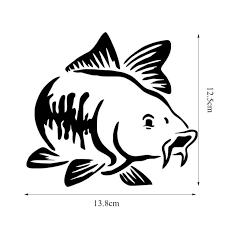 Carp Fish Fishing Common Silver Car Bumper Window Vinyl Decal Sticker 01330 Ushirika Coop