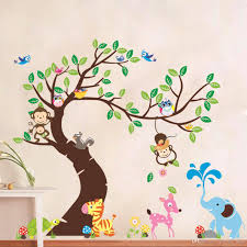 Oversize Jungle Animals Tree Monkey Owl Removable Wall Decal Stickers Muraux Nursery Room Decor Wall Stickers For Kids Rooms Childrens Wall Decals Childrens Wall Sticker From Qwonly Shop 10 58 Dhgate Com