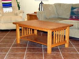 mission coffee table plans on