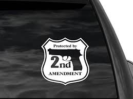 Fgd 2nd Amendment Security Rear Window Decal Universal Boat Car Or Truck Sticker Family Graphix Llc