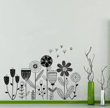 Flower Garden Vinyl Wall Stickers Bed Background Dandelion Wall Decals Girls Room Home Decorate Baby Nursery Art Sticker Jw316 Vinyl Wall Stickers Wall Stickerwall Decals Aliexpress