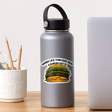 Funny Cheeseburger Design Sticker By Emphatic Redbubble