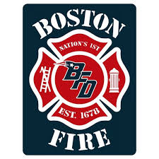 Boston Fire Football 4 Decals