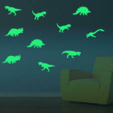9pcs Glow In The Dark Dinosaurs Decal Kid Room Window Wall Luminous Sticker For Sale Online Ebay