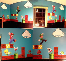 Super Mario Bros Clouds Wall Decal Bedroom Stickers Mario Bros For Kids Video Game Wall Decal Murals Super Mario Room Cloud Wall Decal Mario Room