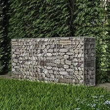 Vidaxl Gabion Basket Steel 200x50x100cm Outdoor Garden Basket Wall Wire Fence Amazon Co Uk Garden Outdoors
